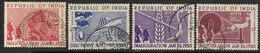 India   1950   Sc#227-30  Innauguration Set Used  2016 Scott Value $13.25 - Gebraucht