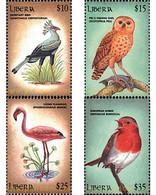 Ref. 78486 * MNH * - LIBERIA. 2000. BIRDS OF AFRICA . AVES DE AFRICA - Liberia