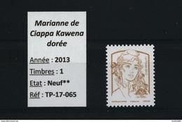 FRANCE Marianne Dorée 2013 - Sans Valeur D'affranchissement - NEUF PHILAPOSTE - 2013-... Marianne De Ciappa-Kawena