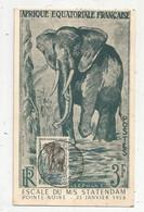 Carte Postale, AFRIQUE EQUATORIALE FRANCAISE,  Escale Du M/S STATENDAM ,POINTE-NOIRE , MOYEN-CONGO,1958 - Briefe U. Dokumente