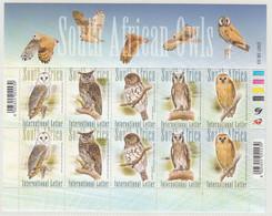 South Africa 2007, Bird, Birds, Owl, Sheetlet Of 2x Set Of 5v, MNH** - Eulenvögel