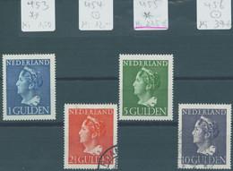 Nederland 1946 Groote Koningin-Zegels Michel 453 ** 454/456 O 455 *  Michel 275 € - Used Stamps