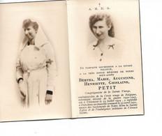 SM Bertha Petit Tirlemont 1951 Tienen Ambulancière Croix Rouge, Volontaire De Guerre 40-45 Duculot Gembloux - Devotion Images