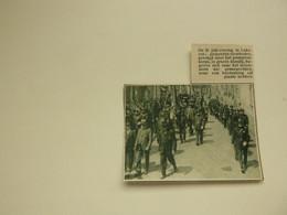 """Origineel Knipsel ( 9953 ) Uit Tijdschrift """" De Stad """"  1933 :   Lokeren  Gemeente - Overheden  Pompiers  Pompier - Zonder Classificatie"""