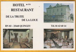 Quingey - Hôtel-Restaurant De La Truite De La Loue - Non Classificati