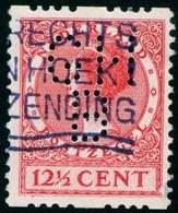 NEDERLAND 1925 Michel-# 155b ROLTANDING + PERFIN GHB Zeldzam Perfin In Rolanding ? - Booklets