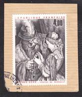 """2265 - 4,00F Gustave Doré - Variété """" R De REPUBLIQUE Manquant"""" - Oblitéré Sur Fragment - Très Beau - Variétés: 1980-89 Oblitérés"""
