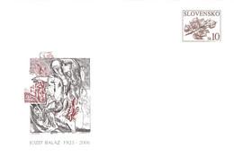 SLOVAKIA - STATIONARY ENVELOPE 2006 JOZEF BALÁZ Unc //Q98 - Postcards