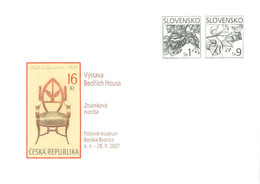 SLOVAKIA - STATIONARY ENVELOPE 2007 HOUSA Unc //Q102 - Postcards