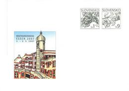 SLOVAKIA - STATIONARY ENVELOPE 2007 BRIEFMARKENMESSE ESSEN Unc //Q104 - Postales