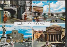 SALUTI DA ROMA - VIAGGIATA - ANNO SANTO LIRE 400 ISOLATO - ANNULLO MESSAGGERE - Saluti Da.../ Gruss Aus...