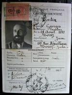 Morez ( Jura 39 ) Carte D'Identité Touring Club De France Mr Martin - Lunetier - Année 1926 - Historical Documents
