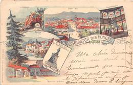 Souvenir Des Vosges Saint Die Epinal Contrexeville LITHO - Saint Die
