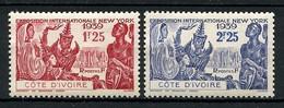 COTE D'IVOIRE 1939 N° 144/145 ** Neufs MNH  Superbes C 4.16 € Exposition Internationale De New-York Masques Danses - Unused Stamps