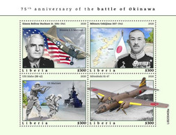2020-10- LIBERIA - BATTLE OF OKINAWA        4V      MNH** - Guerre Mondiale (Seconde)