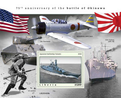 2020-10- LIBERIA - BATTLE OF OKINAWA        1V      MNH** - Guerre Mondiale (Seconde)