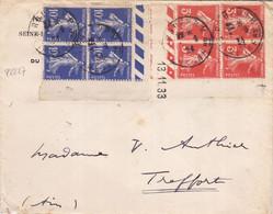 22227# SEMEUSE BLOC DE 4 DONT COIN DATE Obl ROUEN SEINE MARITIME 1934 TREFFORT AIN - 1921-1960: Periodo Moderno