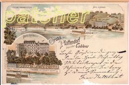 Litho Pfaffendorf (Koblenz), Hôtel Rheinhof, Vorm. Thomm, 1899 - Koblenz