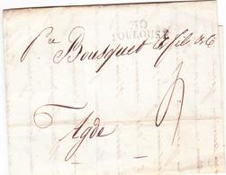 Haute Garonne  2 Marques Linéaire Toulouse 12 Prairial An 11 1802 Et 6 Primaire - 1801-1848: Vorläufer XIX
