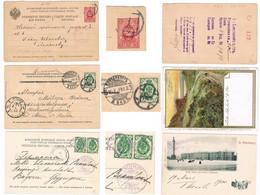 Russland, 3 Int. Karten Petersburg M Nummernstempel; E135a - Covers & Documents
