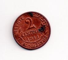 REF MON2a  : Monnaie Coin France 2 Centimes 1911 - B. 2 Centimes