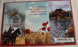 FRANCE 2014 F 4899 Centenaire De La Bataille De La Marne BLOC OBLITERE AVEC GOMME SERVICE PHILATELIQUE POSTE - Afgestempeld