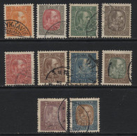Iceland (28) 1902 Christian IX. 10 Values. Used. - Gebraucht