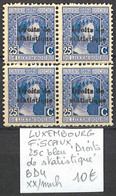 NB - [856342]TB//**/Mnh-Luxembourg  - Fiscaux, 25 C Bleu (droits De Statistique' Bd4 - Fiscaux