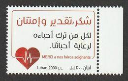 Liban 2020 Merci A Nos Héros Soigants - COVID-19 1v. ** - Lebanon