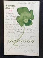 Raphael Kirchner. Sèrie A Quatre Feuilles. 1899. Art Nouveau. Jugendstil. - Kirchner, Raphael