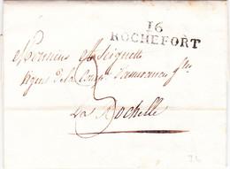 Charente Maritimes Marque Linéaire Rochefort 26 Mars 1824 Assurances Incendie - 1801-1848: Vorläufer XIX