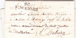 Seine Marque Linéaire Vincennes 4 Avril 1824 - 1801-1848: Vorläufer XIX