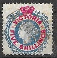 1868 Victoria  Full Gum But Pencil (mint Would Be 250 Euros, Used 20 Euros) - Ongebruikt