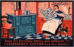 CPA - SEES - Publicité Cuisinières SAUTON (Fonderie Et Emaillerie) - Carte Illustrée ... - Sees