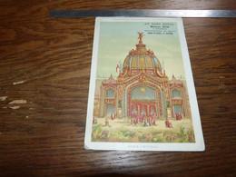Ancien Chromo 11x16,5cm Au Gant Royal Bruxelles Et Ostende Série Exposition Universelle 1889 Dome Central - Andere