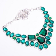 Chrome Diopside Apatite Stone Ethnic Style Handmade Jewelry Necklace - Necklaces/Chains