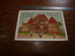 Ancien Chromo 11x16,5cm Au Gant Royal Bruxelles Et Ostende Série Exposition Universelle 1889 Pavillon Nicaragua - Andere