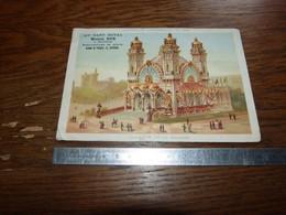 Ancien Chromo 11x16,5cm Au Gant Royal Bruxelles Et Ostende Série Exposition Universelle 1889 Pavillon Bolivie - Andere
