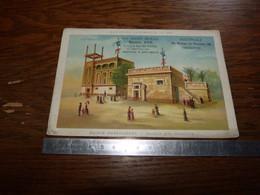 Ancien Chromo 11x16,5cm Au Gant Royal Bruxelles Et Ostende Série Exposition Universelle 1889 Maison Des Hébreux - Andere