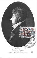 """1371 - ETIENNE MEHUL 1er Jour Le 15-05-65 GIVET (ARDENNES) Compositeur """"le Chant Du Départ"""" TB - 1960-69"""