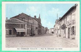 615 - GRISOLLES - PLACE DU MONUMENT AUX MORTS - Grisolles