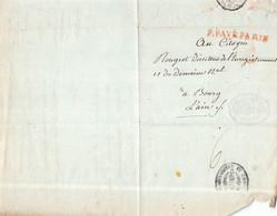 LETTRE P. PAYE PARIS( Rouge ) Pour BOURG ( Ain ) - 1793 ? - BOURG Le 15 THERMIDOR AN II ( Cachet Republique Francaise ) - 1701-1800: Voorlopers XVIII