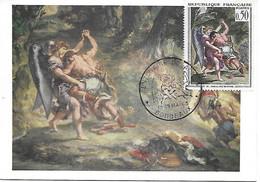 """1376 - E. DELACROIX LA LUTTE DE JACOB AVEC L'ANGE, Cachet Illustré """"centenaire Delacroix"""" BORDEAUX 18/19-05-63 - TB - 1960-69"""