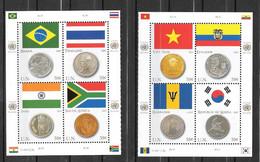 2007 - 1028 à 1035 **MNH - Drapeaux Et Monnaies - Unused Stamps