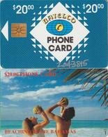 241/ Bahamas; P7. Beaching, Hand Silver CN 7 Digits, Chip GEM 1B.1, With Transparent Logo, 7.000 Ex. - Bahamas