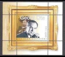 Singer Georg Ots 100 Estonia 2020  MNH Sheet Mi BL 50 - Estonia