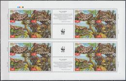 Ukraine 2002 WWF Fauna Leopard Snake Nr.Zd.-Bg.502-505С - Ukraine