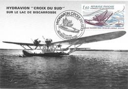 Hydravion CROIX DU SUD Sur Le Lac De Biscarrosse. Premier Jour Du Timbre 4 Décembre 1982 - Piloten