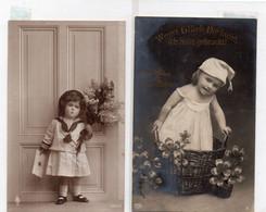 DC4612 - Ak Schöne Motivkarte Kinder Mädchen Kleine Kinder Süße Karten 2 Stück Lot - Retratos