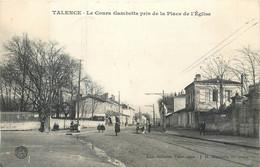 CPA 33 Gironde Talence Le Cours Gambetta Pris De La Place De L'Eglise - Altri Comuni
